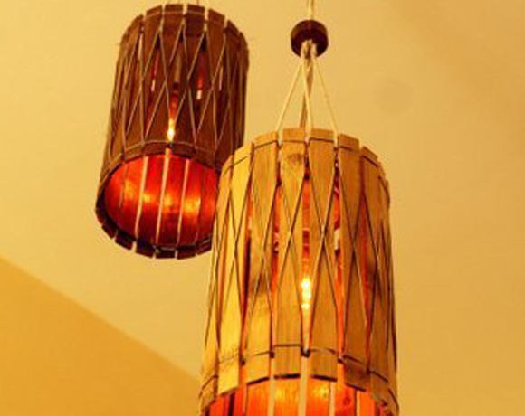 Bamboo Dual Hanging Light